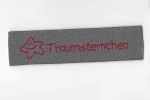 Label Traumsternchen Grau/Rot